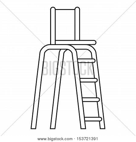 Tennis tower for judges icon. Outline illustration of tennis tower for judges vector icon for web