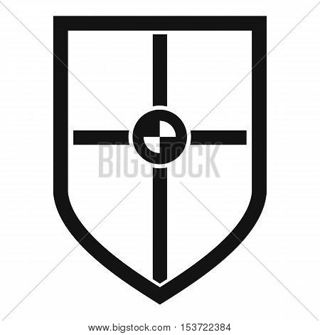 Shield for fight icon. Simple illustration of shield for fight vector icon for web