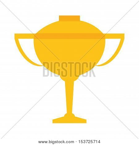 trophy cup winner isolated icon vector illustration design