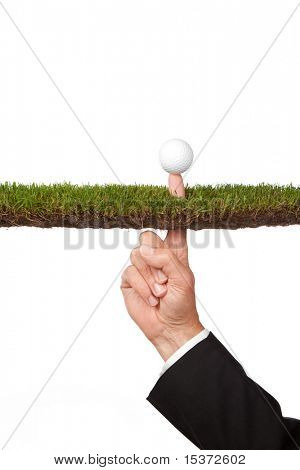 conceptual business image of taking a risk or other concepts