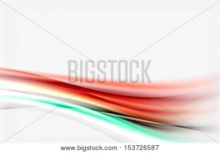 Blurred wave motion, vector background