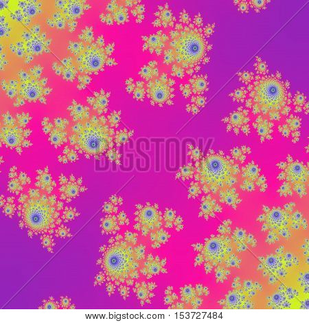 Amazing pink and violet yellow flowers colorful design background