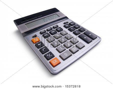 Calculadora de profesionales aislado sobre fondo blanco