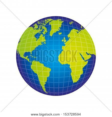 planet earth icon image vector illustration design