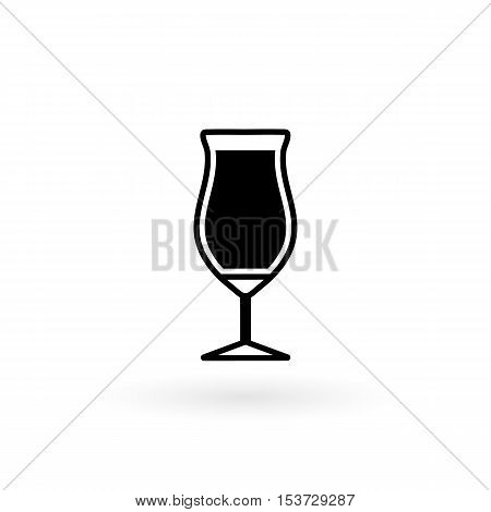 vector icon of glass for cocktail flat style