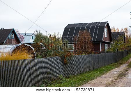 House In A Village In A Autumn Day