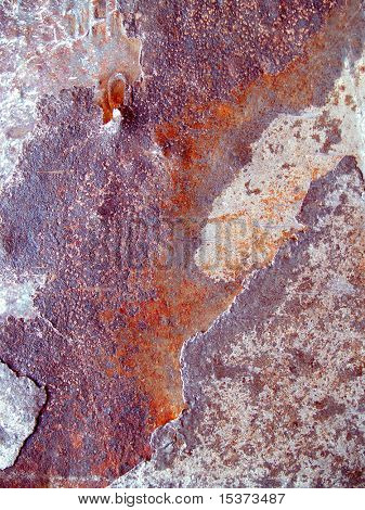 Texture of rust corrupted metal