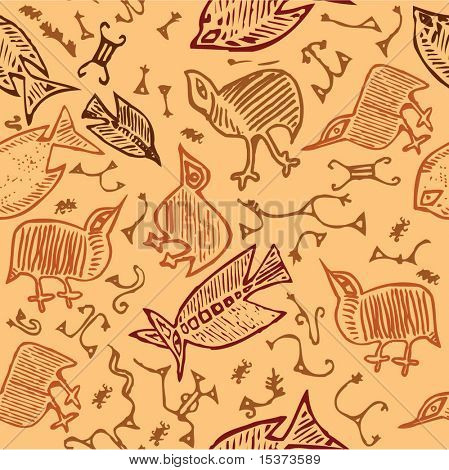 African animal tribal texture (tiled)