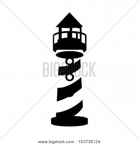 striped lighthouse icon image vector illustration design
