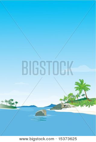Indian Ocean islands. High detailed vector illustration