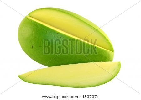 Sliced Green Mango