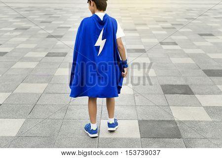 Superhero Boy Kid Costume Energy Concept