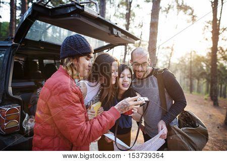 People Friendship Hangout Traveling Destination Trekking Camera Concept