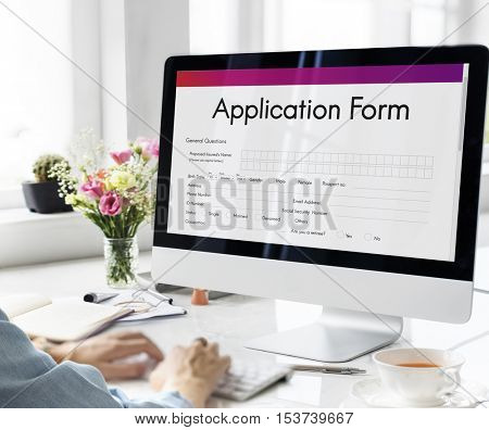 Application Form Employment Document Concept