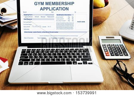 Gym Membership Application Wellness Concept