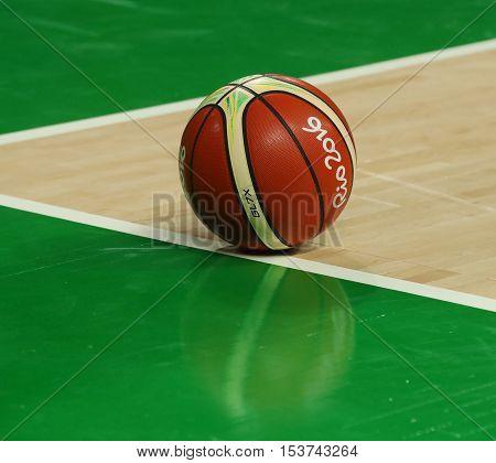 RIO DE JANEIRO, BRAZIL - AUGUST 10, 2016: Rio 2016 basketball at basketball court at Carioca Arena 1 during  Rio 2016 Olympic Games