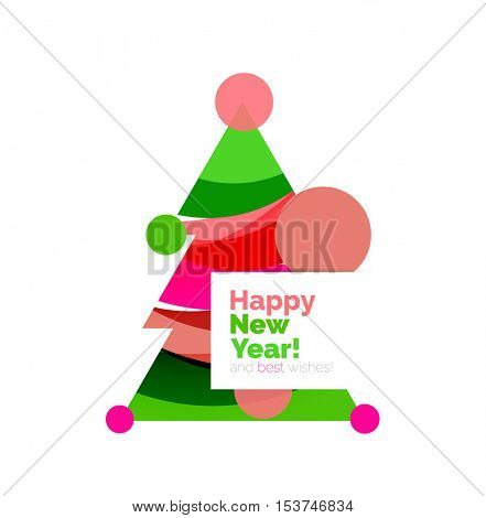 Christmas banner design with blank space for promo text. Vector illustration
