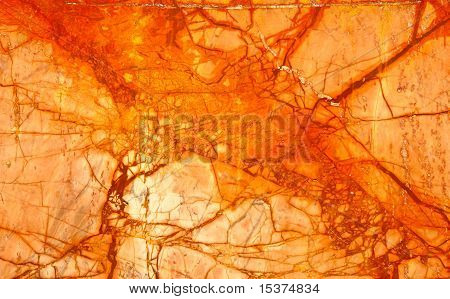 Orange Numidian Sanguine Marble, Cracks Full Frame