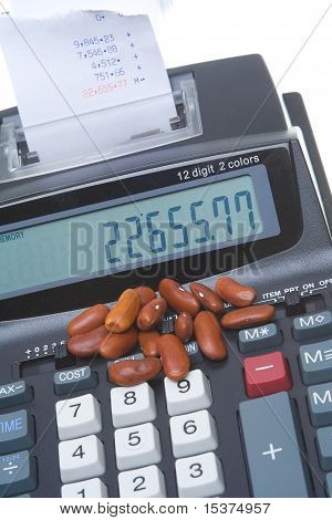 Adding Machine Kidney Bean Counter Accounting