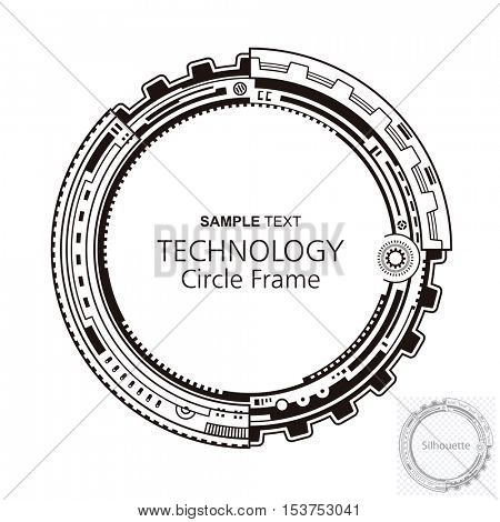 Circular technology frame abstract design.