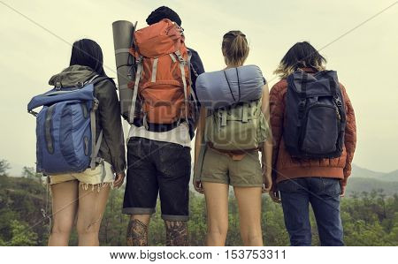 Backpack Casual Environment Travel Vacation Concept