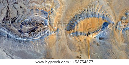 Abstract photography of landscapes of deserts of Africa from the air,