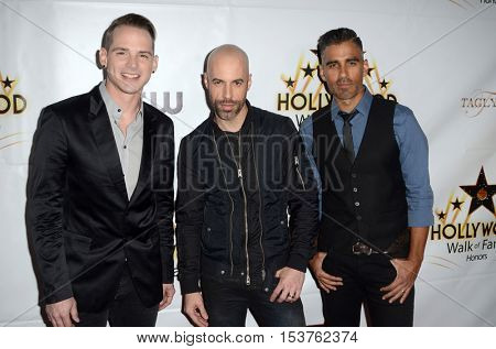 LOS ANGELES - OCT 25:  Daughtry member, Chris Daughtry, another Daughtry band member at the Hollywood Walk of Fame Honors at Taglyan Complex on October 25, 2016 in Los Angeles, CA