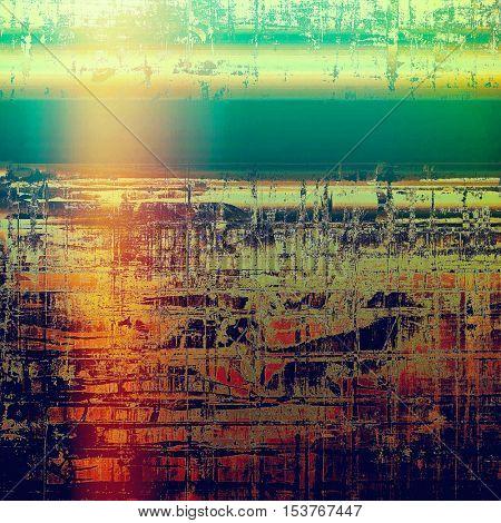Elegant vintage background, grunge design template. Ancient texture with different color patterns: yellow (beige); green; blue; red (orange); purple (violet); pink