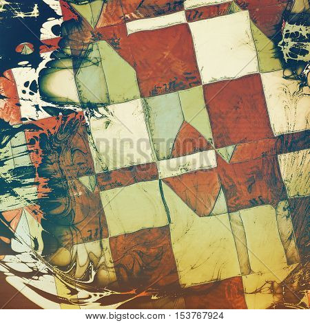 Geometric vintage background texture, antique style composition for your design. With different color patterns: yellow (beige); brown; gray; green; blue; red (orange)