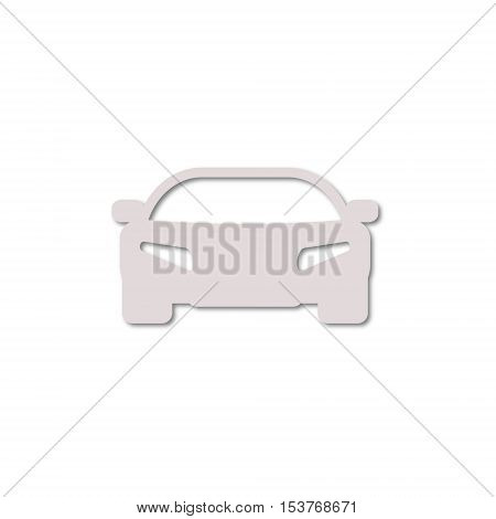Vector Car Simple icon on white background