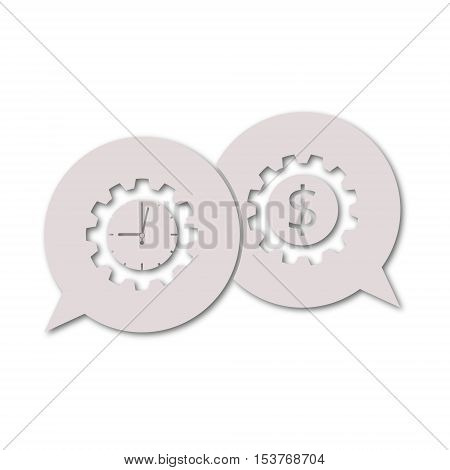 Time is money, Business gears concept icon