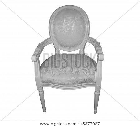 Chair French Style Carver White