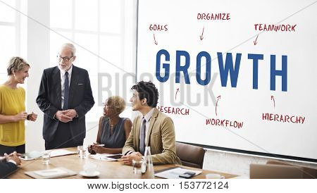 Growth Business Company Strategy Marketing Concept