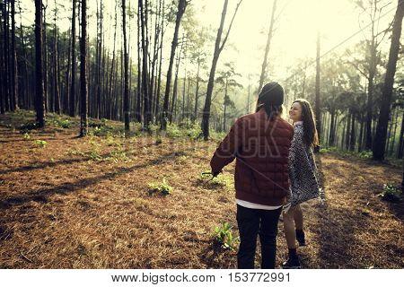 Couple Exploring Trip Holiday Concept