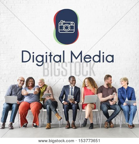 Digital Media Technology Networking Concept