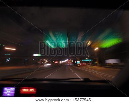 Noche por las carreteras de Miami usa