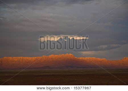 Range In Spectacular Sunset Light