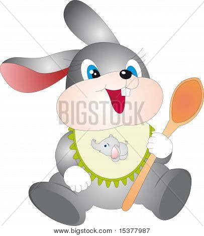 Rabbit with spoon