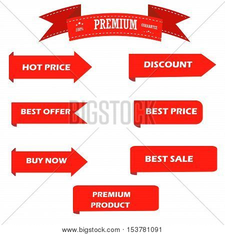 Black friday vintage sale tag labels set. Season sale tag price discount ribbon business icon. Christmas sale tag promotion retail advertising. Discount new year sale tag black friday logo vector.