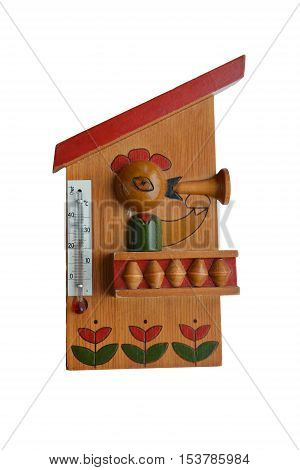 the thermometer children's color wooden are art