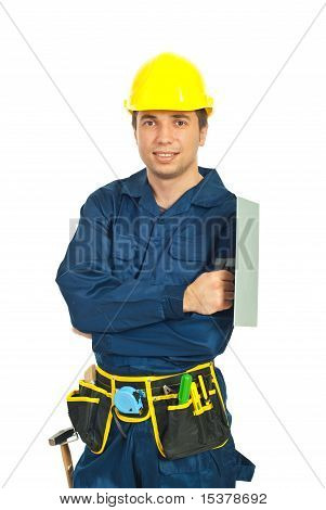 Young Worker Man With Notched