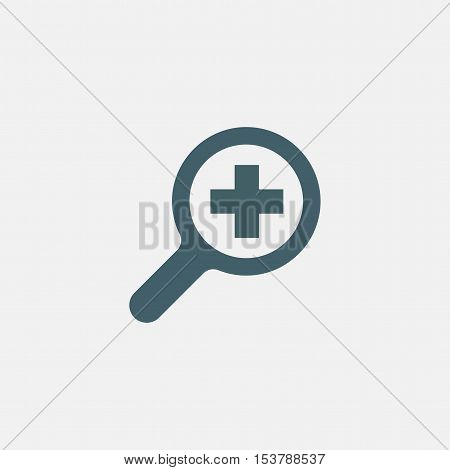 search vector icon isolated on white background. magnifier increase icon. magnifying glass zoom in icon