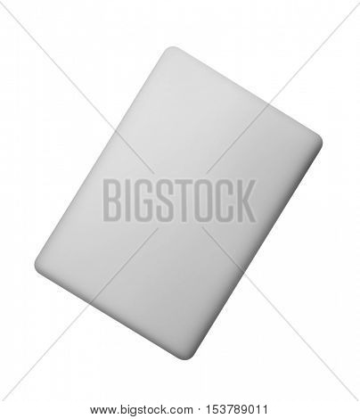 Laptop in closed top view isolated on white -Clipping Path