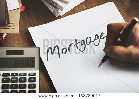 Mortgage Finance Banking Loan Debt Capital Cash Concept