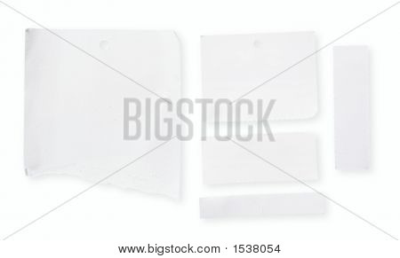 Papel en blanco blanco con Clipping Path