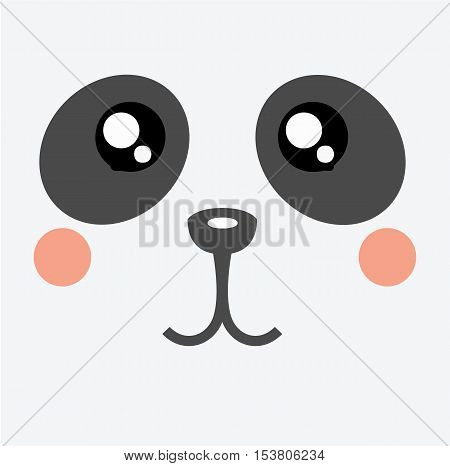 Panda Kawaii Cartoon Cute Icon - Panda Animal Character Kawaii Flat Isolated Design Vector Illustration Stock