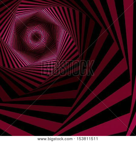 Digital Whirling Magenta Hexagonal Forms