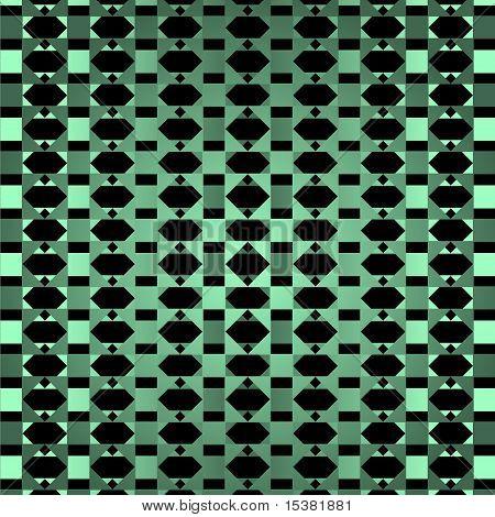 Geometrical green ornamental background