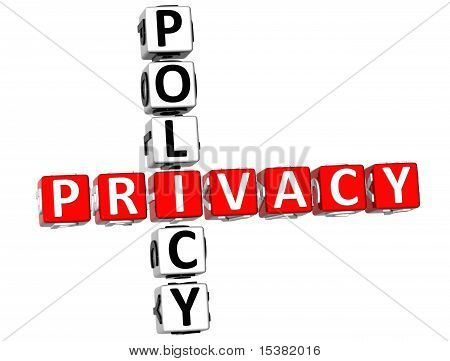 Datenschutz-Policy-Kreuzworträtsel