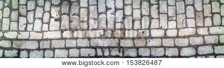 panorama stone paving stone covering side walk